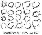 set of empty comic style speech ... | Shutterstock .eps vector #1097269157