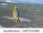 sea waves and wind surfing in... | Shutterstock . vector #1097270285