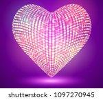 vector 3d hexagon hearts. on a...   Shutterstock .eps vector #1097270945