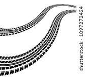black waves tire track...   Shutterstock .eps vector #1097272424
