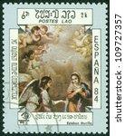 laos circa 1984  a stamp... | Shutterstock . vector #109727357