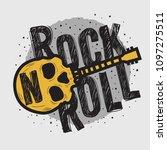 rock vector design with human... | Shutterstock .eps vector #1097275511
