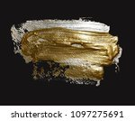 hand drawing silver and gold... | Shutterstock . vector #1097275691