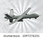 unmanned aerial vehicle | Shutterstock .eps vector #1097276231