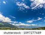 view of the alps in vaduz ... | Shutterstock . vector #1097277689