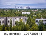 abandoned pripyat city and... | Shutterstock . vector #1097280545