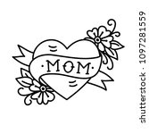 tatoo with mom inscription in...   Shutterstock .eps vector #1097281559