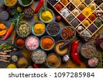a selection of various colorful ... | Shutterstock . vector #1097285984