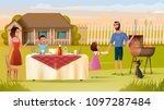 happy family have holiday... | Shutterstock .eps vector #1097287484
