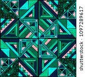 tribal vector ornament.... | Shutterstock .eps vector #1097289617