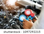 check car air conditioning... | Shutterstock . vector #1097292215