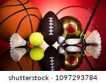 sport equipment and balls | Shutterstock . vector #1097293784