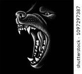 the vector logo wolf for t... | Shutterstock .eps vector #1097297387