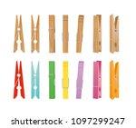 vector illustration of wooden... | Shutterstock .eps vector #1097299247