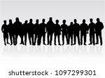 black silhouettes of men | Shutterstock .eps vector #1097299301