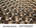 tin metal cans  painting... | Shutterstock . vector #1097300687