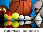 assorted sports equipment | Shutterstock . vector #1097300849