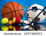 sport equipment and balls | Shutterstock . vector #1097300921