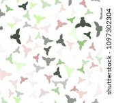 seamless vector pattern with... | Shutterstock .eps vector #1097302304