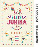 festa junina party design.... | Shutterstock .eps vector #1097303534