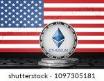 ethereum  eth  cryptocurrency ... | Shutterstock . vector #1097305181