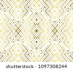 gradient gold white linear... | Shutterstock .eps vector #1097308244