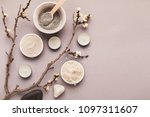 preparing cosmetic black mud... | Shutterstock . vector #1097311607