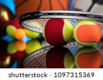 assorted sports equipment | Shutterstock . vector #1097315369
