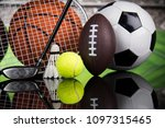 assorted sports equipment | Shutterstock . vector #1097315465