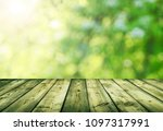 empty table for display montages | Shutterstock . vector #1097317991
