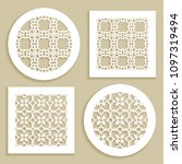 templates for laser cutting ...   Shutterstock .eps vector #1097319494