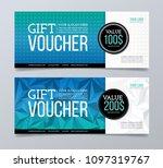 gift voucher template design. | Shutterstock .eps vector #1097319767