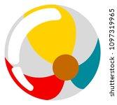 beach ball icon | Shutterstock .eps vector #1097319965