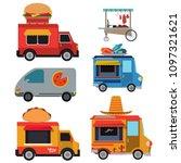 food van vector collection | Shutterstock .eps vector #1097321621