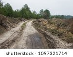 the dirt road and the type of... | Shutterstock . vector #1097321714