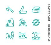 survival and adventure icon set ... | Shutterstock .eps vector #1097321999