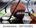 balls  sports equipment | Shutterstock . vector #1097322881