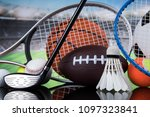 sport equipment  soccer tennis... | Shutterstock . vector #1097323841
