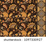 set of seamless floral pattern... | Shutterstock . vector #1097330927