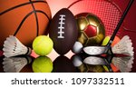 assorted sports equipment | Shutterstock . vector #1097332511