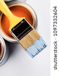 paint can and paintbrush | Shutterstock . vector #1097332604