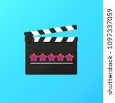 clapper board icon with... | Shutterstock .eps vector #1097337059