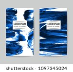 set of vector business card... | Shutterstock .eps vector #1097345024