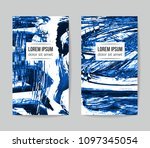 set of vector business card...   Shutterstock .eps vector #1097345054