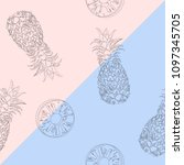 seamless pattern drawing... | Shutterstock .eps vector #1097345705