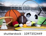 sport equipment and balls ... | Shutterstock . vector #1097352449