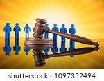 people law concept  wooden gavel | Shutterstock . vector #1097352494