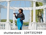 stylish african american model... | Shutterstock . vector #1097352989
