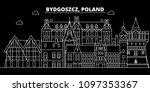 Bydgoszcz Silhouette Skyline....