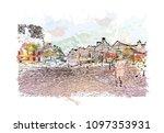 edinburgh castle is a historic... | Shutterstock .eps vector #1097353931